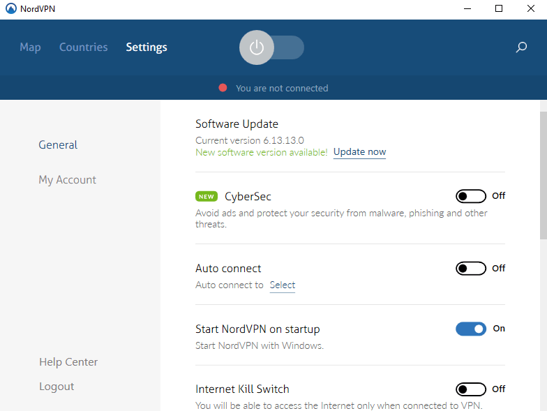 nord vpn settings