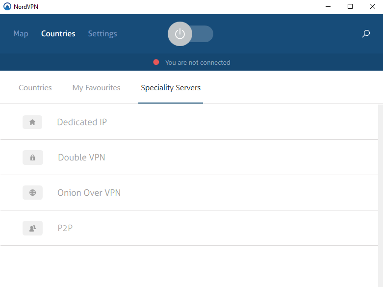 nord vpn speciality servers