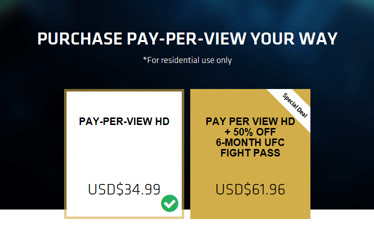 purchase pay per view