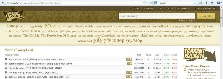 Kickasstorrents.to clone to kickass
