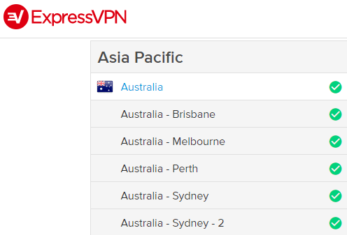 Australian servers ExpressVPN