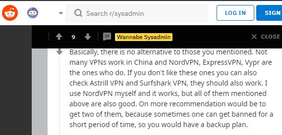 Reddit VPN For China