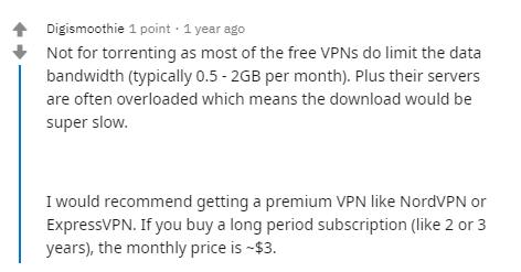 Reddit Free VPN For Torrenting