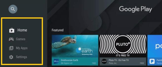 Update Kodi Android TV menu