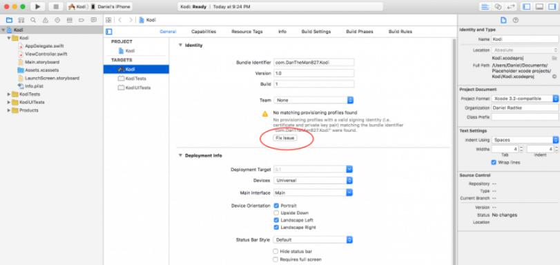 Update Kodi on iOS Xcode Step 3