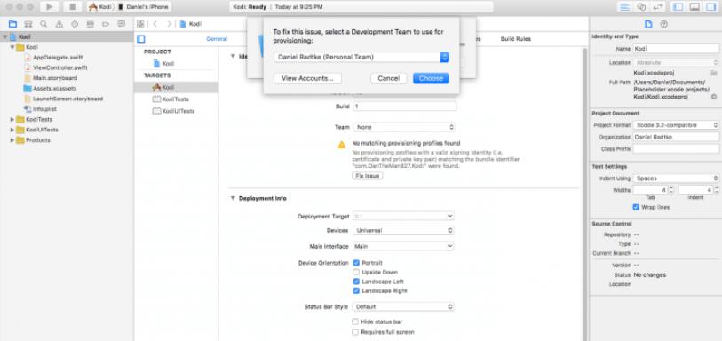 Update Kodi on iOS Xcode Step 5