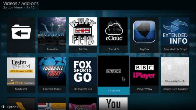 How to look for Kodi add-on step 3