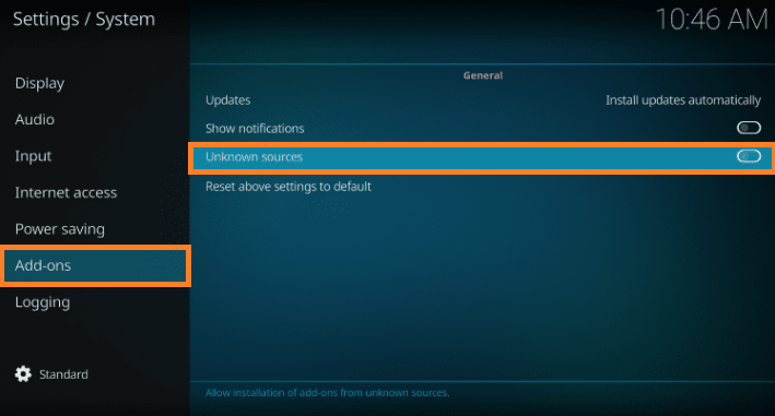 Install Kodi add on Step 4