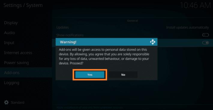 Install Kodi add on Step 5