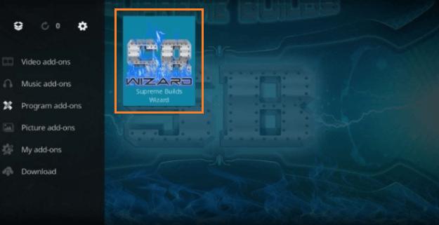 Install a Kodi Build step 13