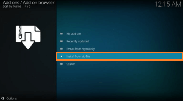 Install a Kodi Build step 6