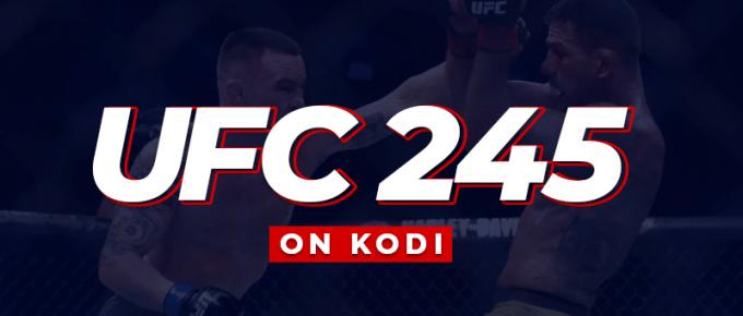 UFC 245 On Kodi