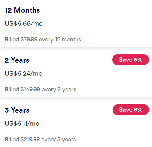 AVG VPN Pricing Plan
