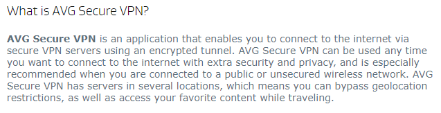AVG VPN's Home Support FAQ Section