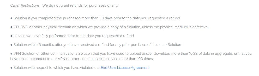 Avast SecureLine Policy On Cancellation Of Refund
