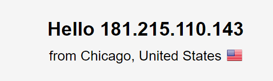 DNS leak test using the US server