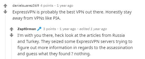 ExpressVPN on Reddit