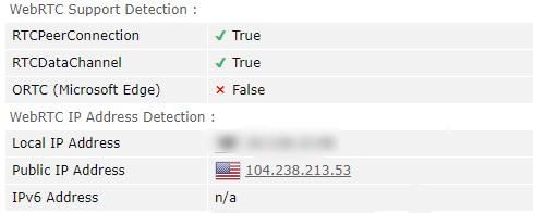 FastestVPN WebRTC Leak Test US Server