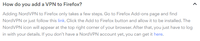 Firefox set up