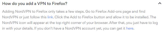 Firefox set up