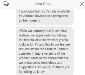 Kill Switch support chat