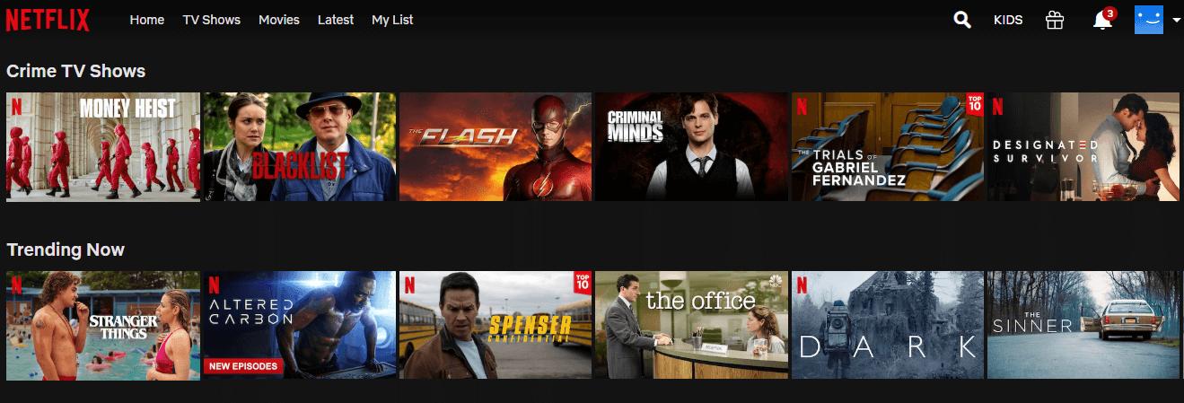 Netflix using US server