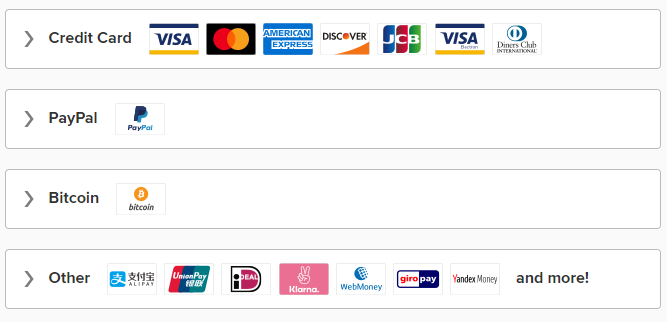 Payment methods for discounted coupons