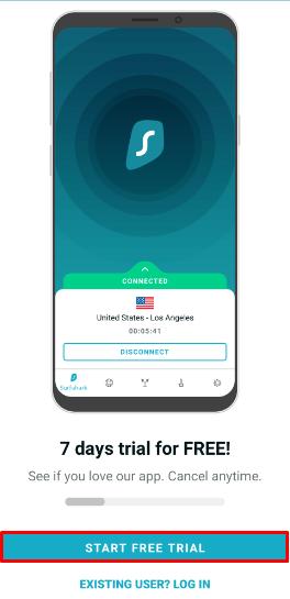 Surfshark VPN 7 Day Free Trial Step 1