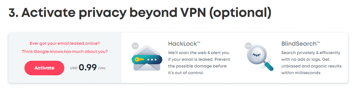 Surfshark VPN Step 3 Additional Security Plan