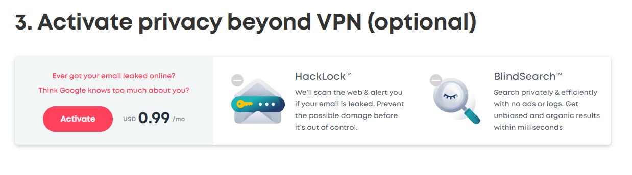 Surfshark VPN Step 3 Additional Security Plan
