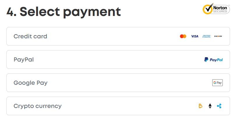 Surfshark VPN Step 4 Choose A Suitable Payment Method