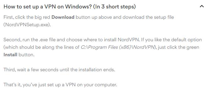 Windows set up