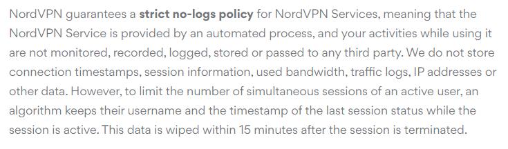 no logging policy