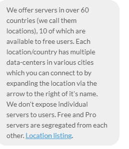 Discussing Server Locations With Windscribe Helpline