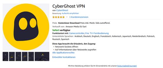 Insatlling CyberGhost On Fire OS