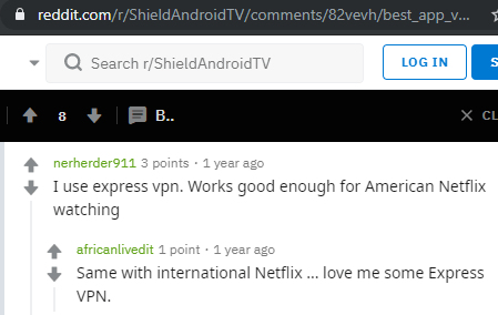 Reddit Community Approves ExpressVPN For Nvidia Shield
