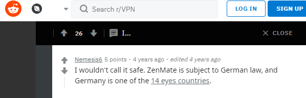 Reddit Users Comment On ZenMate