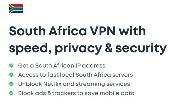 Surfshark VPN Server list South Africa