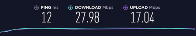 Windscribe Speed Test After Connecting To US Server