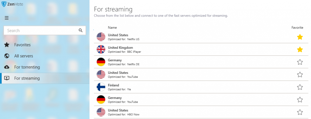 ZenMate Dedicated Servers For Streaming