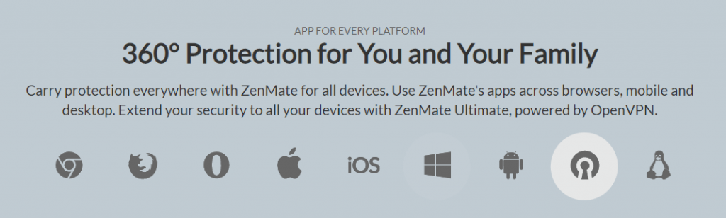 Zenmate VPN Apps For All Major Platforms