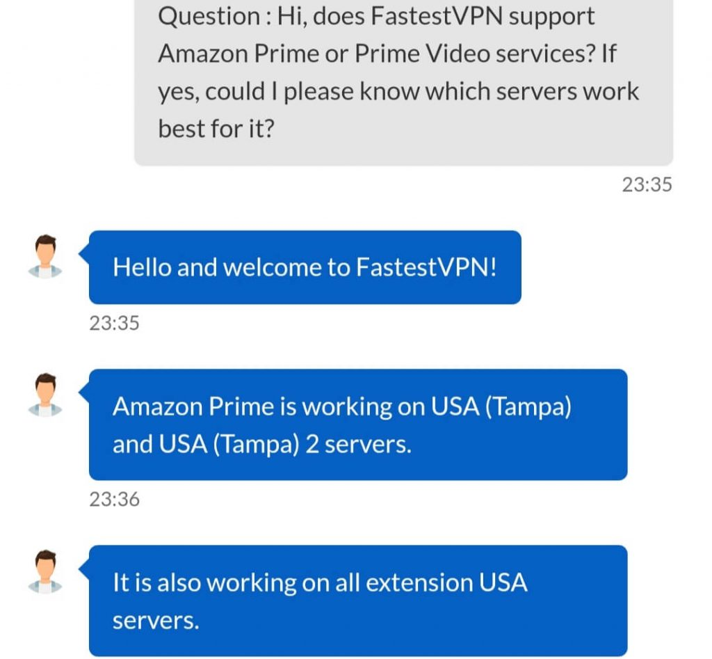 FastestVPN Chat Support