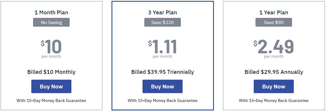 FastestVPN pricing plans