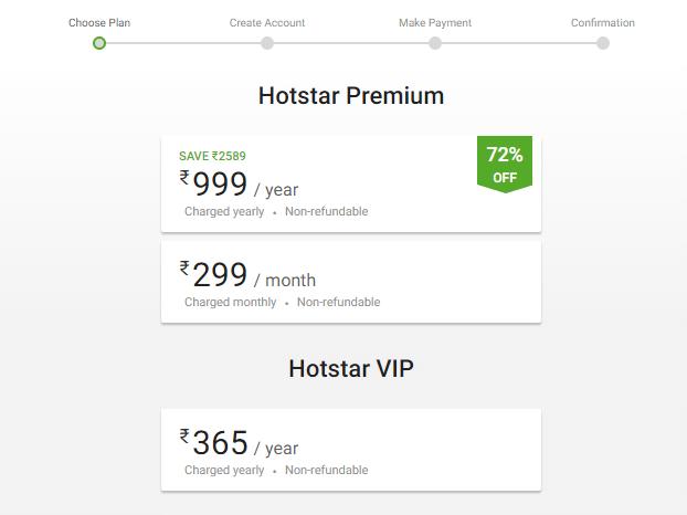 Hotstar Step 2 Premium Plan