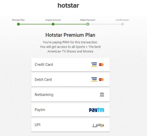Hotstar Step 4 Premium Plan