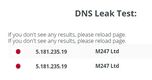 ProtonVPN DNS Leak Test Japan Server