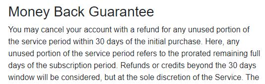 ProtonVPN Refund Policy