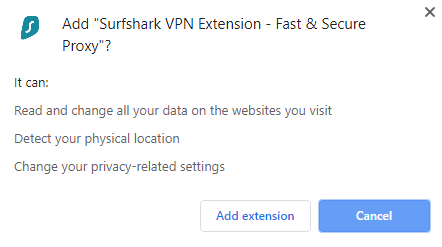 Surfshark Chrome Extension For Hotstar Step 2
