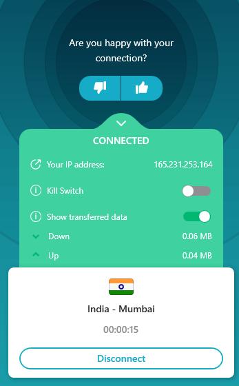 Surfshark VPN App Launch Sample