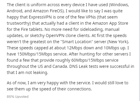 ExpressVPN on Reddit